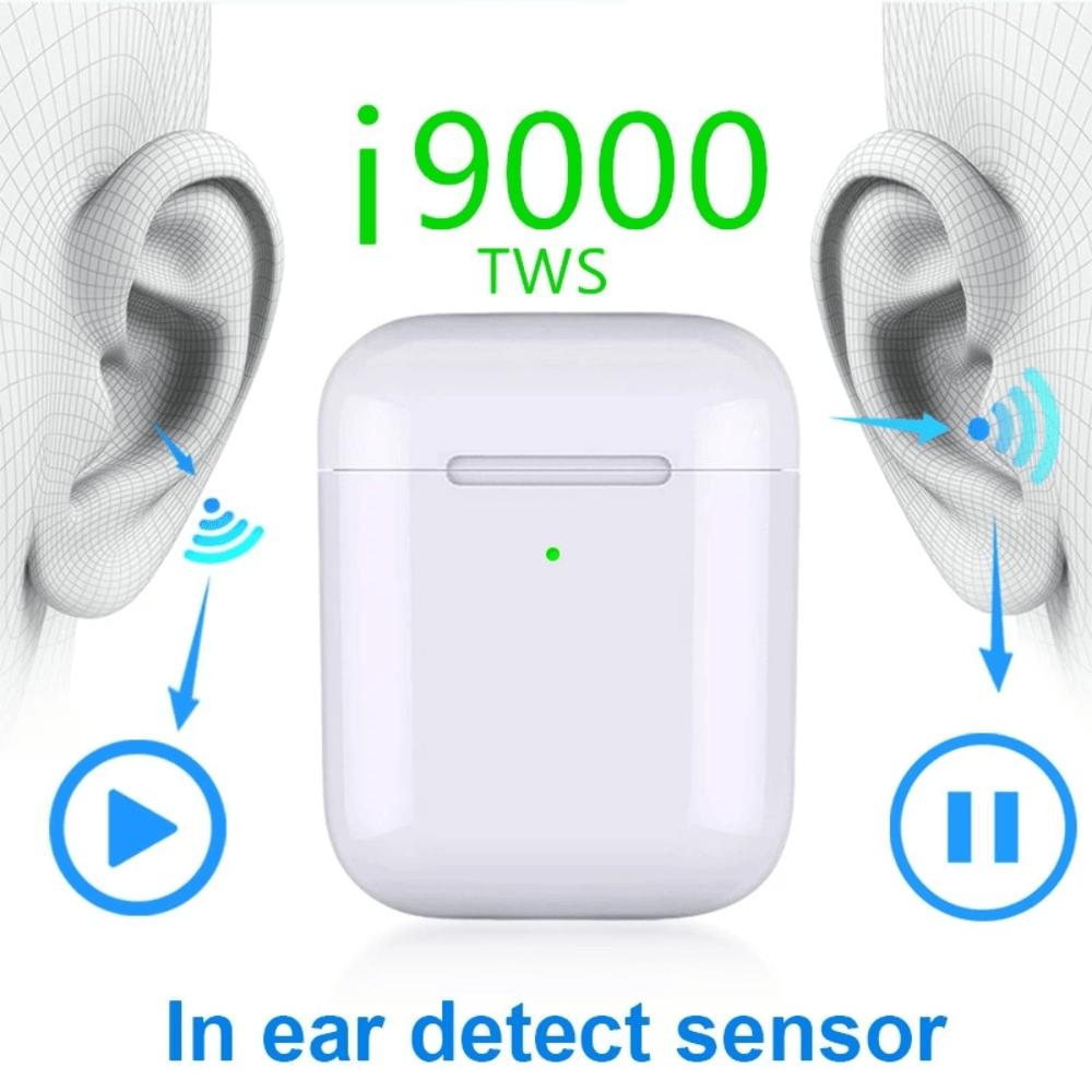 Original i9000 tws 1:1 Aire 2 AP2 Smart Sensor Earbuds Black Wireless Charging Bluetooth Earphones pk H1 Chip i200 i500 i520 tws