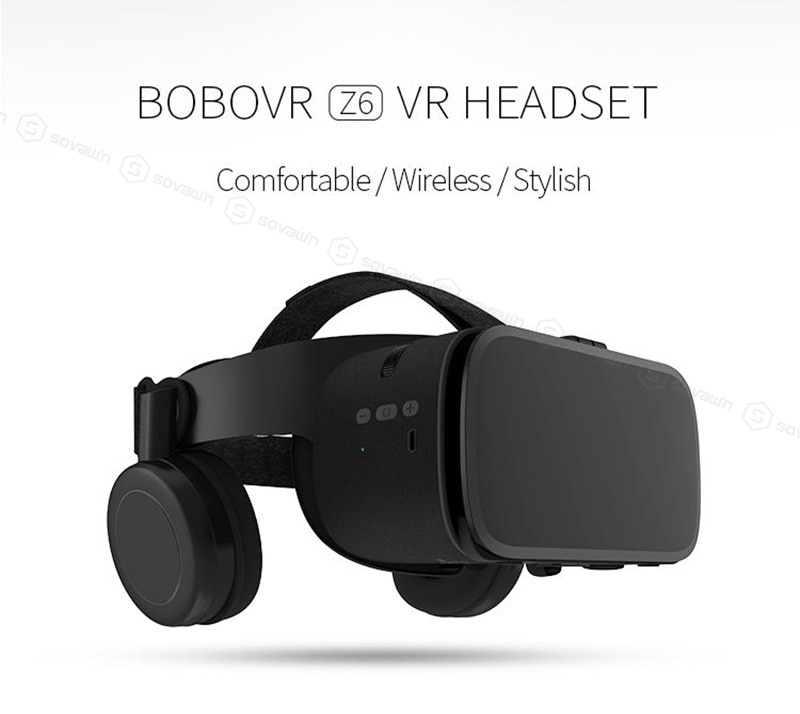 Newest BoBo VR Z6 Glasses 3D Virtual Reality Wireless Bluetooth VR Headset Helmet For iPhone Android Smartphone 4.7-6.2' inch