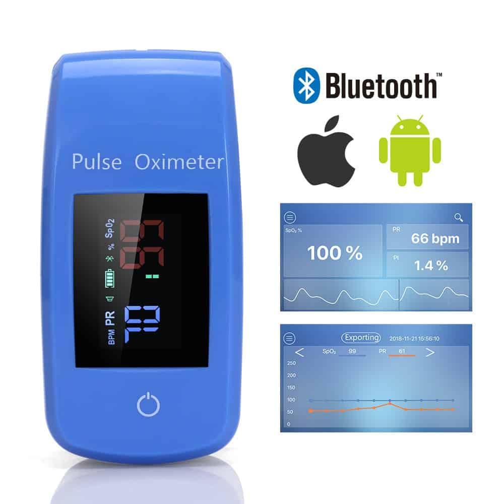 Finger Bluetooth APP Pulse Oximeter Medical Household Digital Oxygen Saturation Meter Portable Mini Finger SPO2 PR Oximetro CE