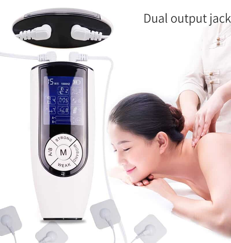Dual Output Slimming Massager Electrical Nerve Muscle Stimulator Digital Meridan Massage Instrument Physiotherapy Tens Machine