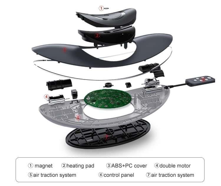 Medical apparatus far infrared heated shiatsu lumbar ball back Stretcher Fitness massager Relax Stretcher Lumbar Support Spine