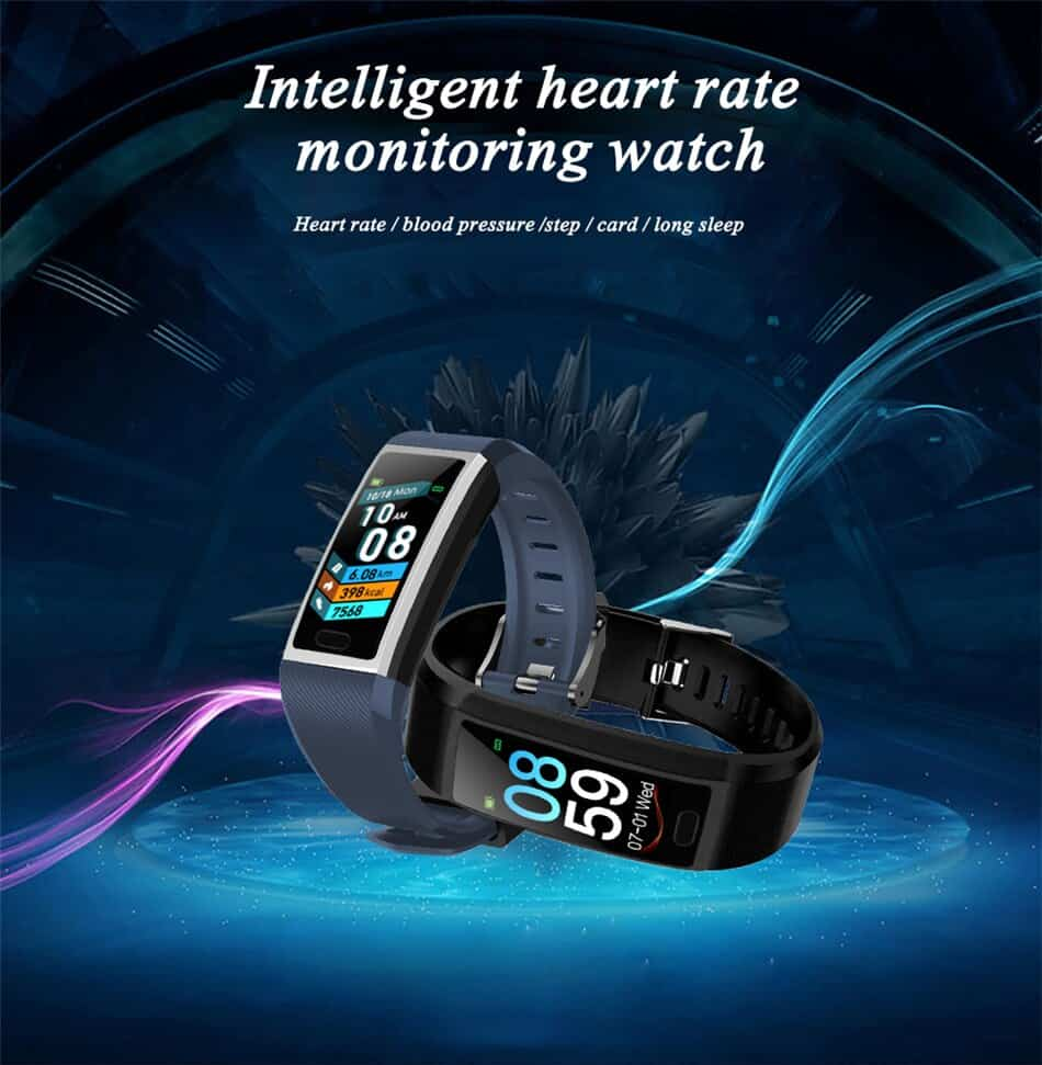 LIGE Smart Bracelet Sport Fitness Tracker 1.14 full Screen Heart Rate Blood Pressure Monitor For Android ios Pulsera inteligente