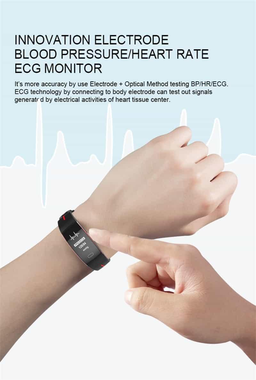 Vwar H66 blood pressure band heart rate monitor PPG ECG smart bracelet Activit fitness tracker Watch intelligent wristband P3