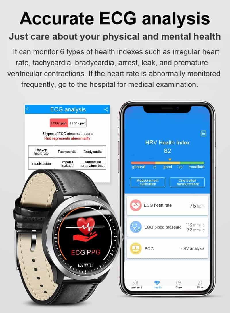 Smart Watch ECG PPG Smart Fitness Band Heart Rate Monitor Blood Pressure Watch Waterproof Smartwatch for IOS Android Phone Watch