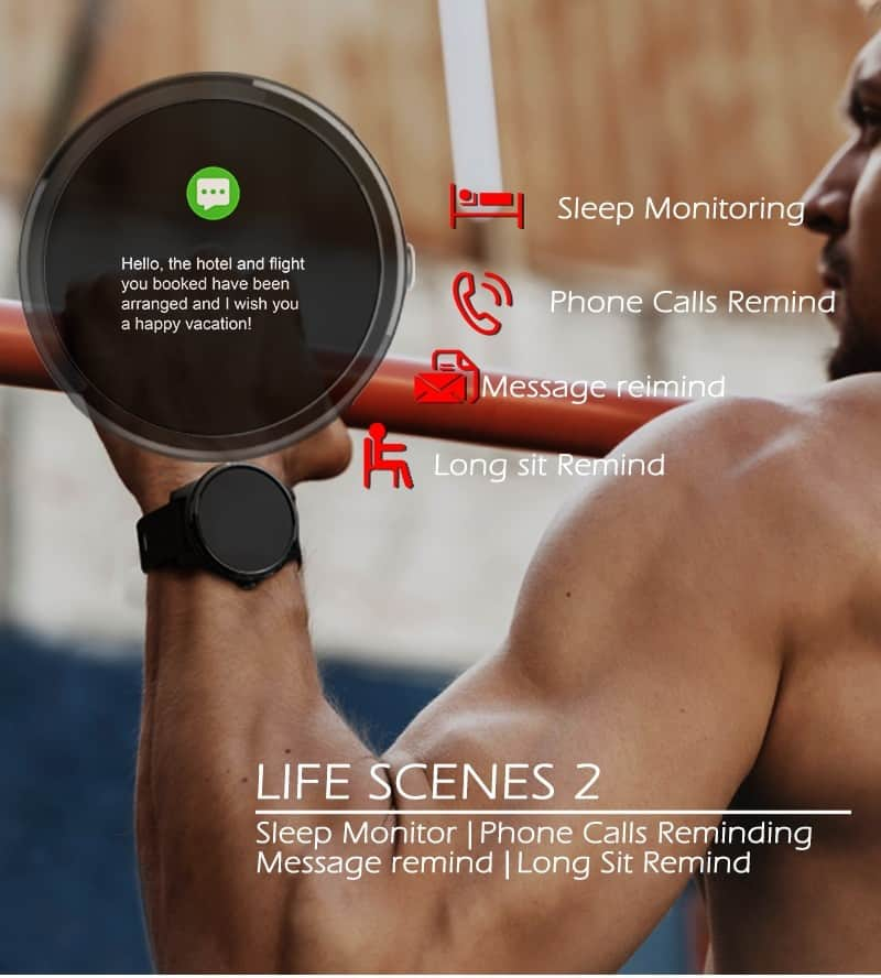 Smart Watch Sport Fitness Activity ECG PPG Blood Pressure Heart Rate Monitor Wristband IP67 Waterproof Band For IOS Android