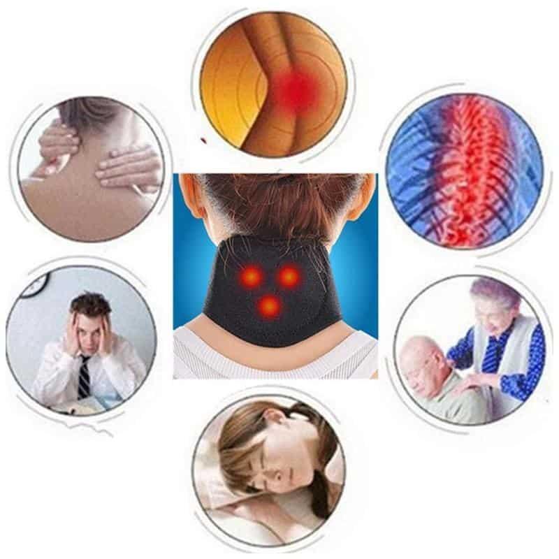 Neck Massager Magnetic Therapy Wrap Protect Tourmaline Belt Support Spontaneous Heating Neck Braces Neck Massage Brace