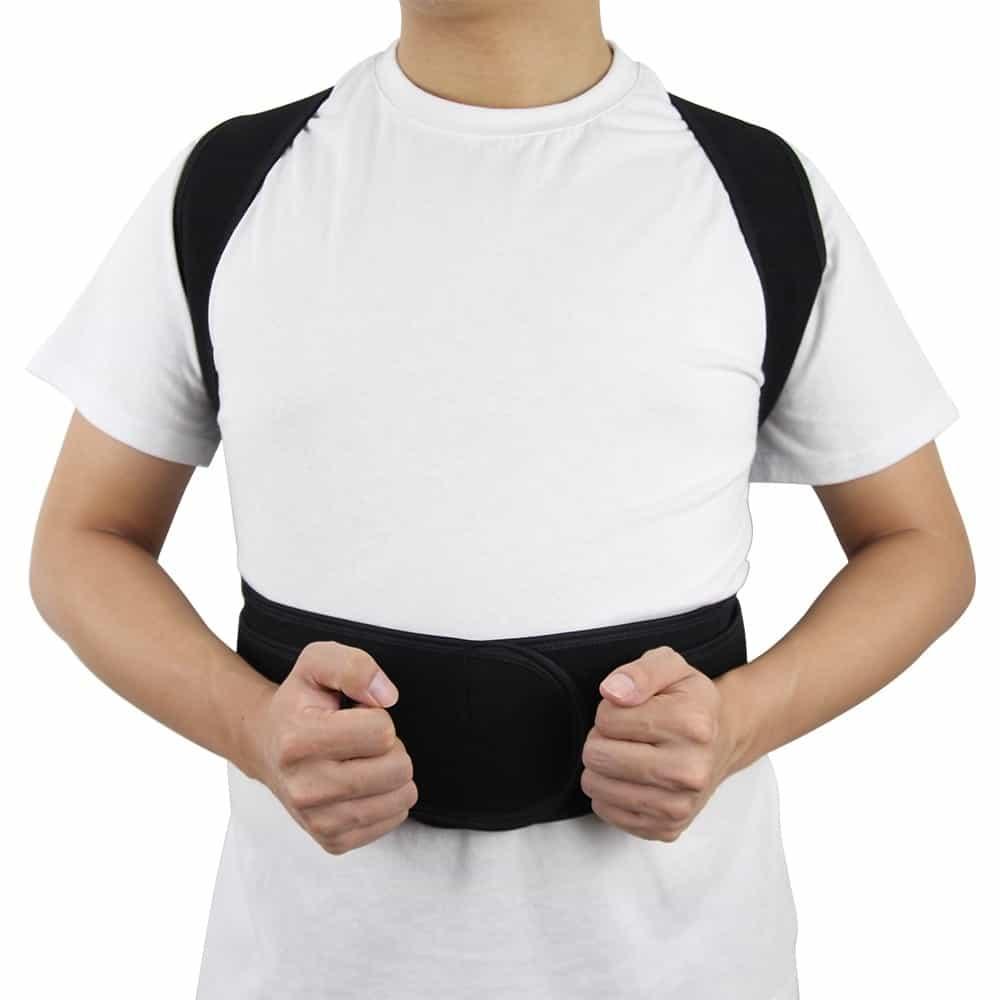 Adjustable Posture Corrector Back Support Shoulder Lumbar Brace Support Corset Back Belt for Men