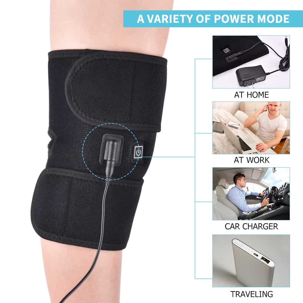Infrared Heat Shoulder Knee Adjustable Brace Hot Therapy Pain Relief Elbow Injury Cramps Dislocated Rehabilitation Support Belt