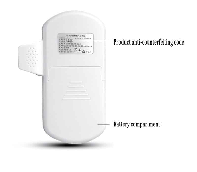 LCD Fetal Doppler Detector Portable Baby Heart Rate Monitor for Baby Pregnant Doppler Sensor medical instruments health care