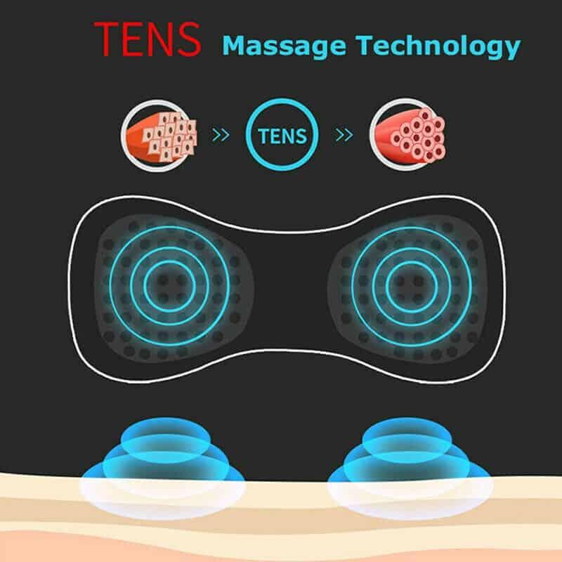 Mini Electric Neck Massager Cervical Massage Stimulator Pain Relief Portable Back massager