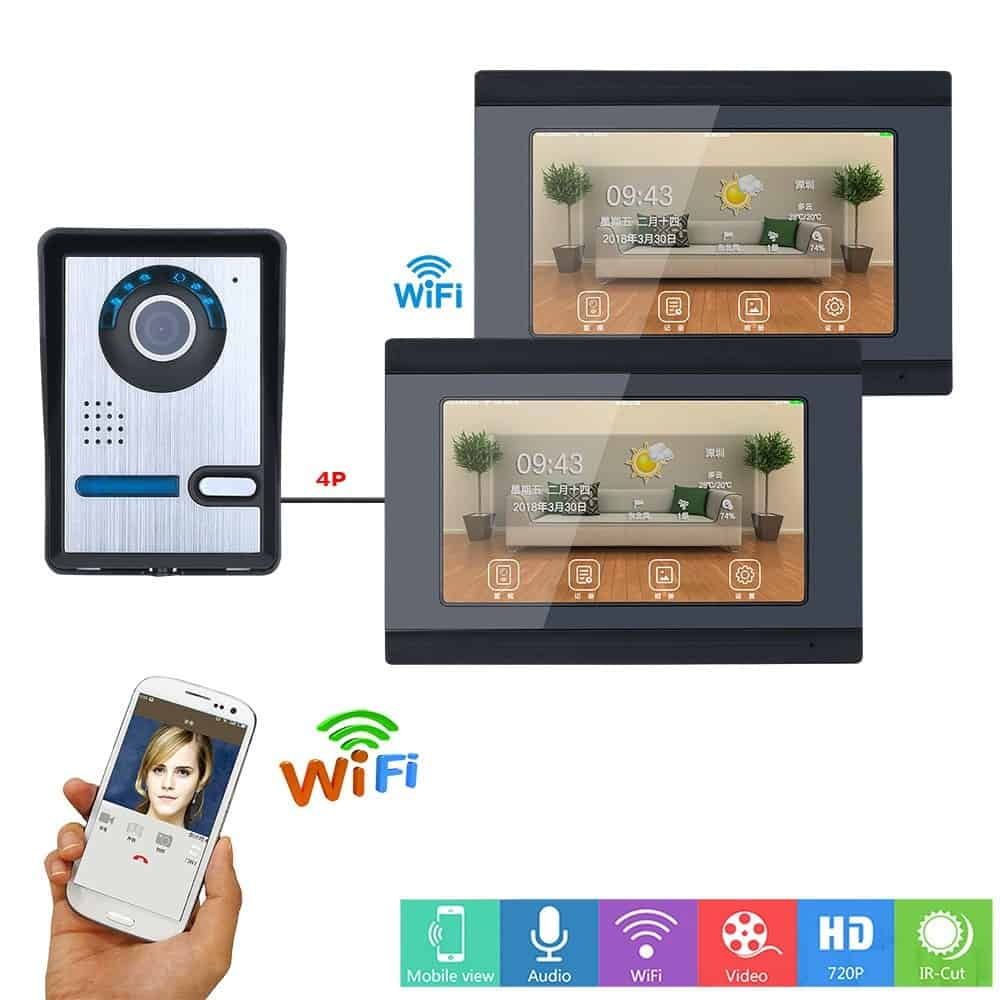 SmartYIBA Wifi Smart Visual Intercom IR-CUT HD Camera IP Doorphone Night View Video Doorbell Ring Video Door Phone Doorbell kits