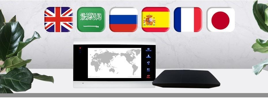 Homefong 7 inch 720P Video Intercom ip Video Door Phone Wifi House Intercom Wireless Unlock Smart Motion Record Alarm Wifi Box