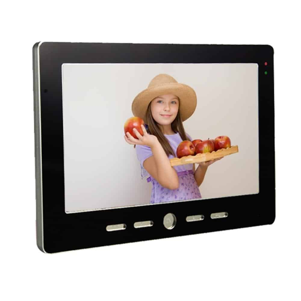 DIY 7 Inch Wired WiFi Smart IP Video Door Phone Intercom System with 1x1000TVL Wired Doorbell Camera,Support Remote unlock