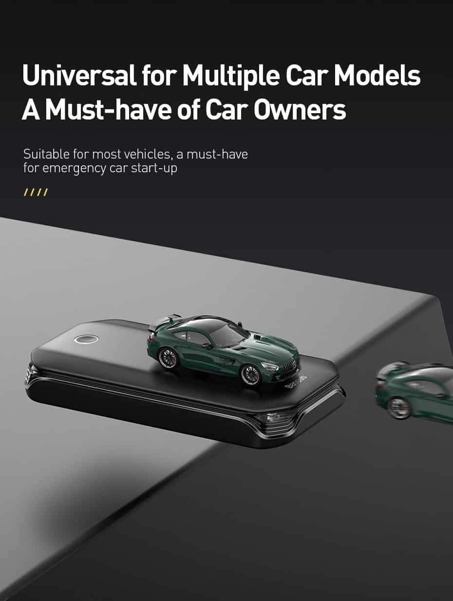 Baseus Car Jump Starter Power Bank 12V Auto Starting Device 800A Car Booster Battery Jumpstarter Emergency Buster Jumper Start
