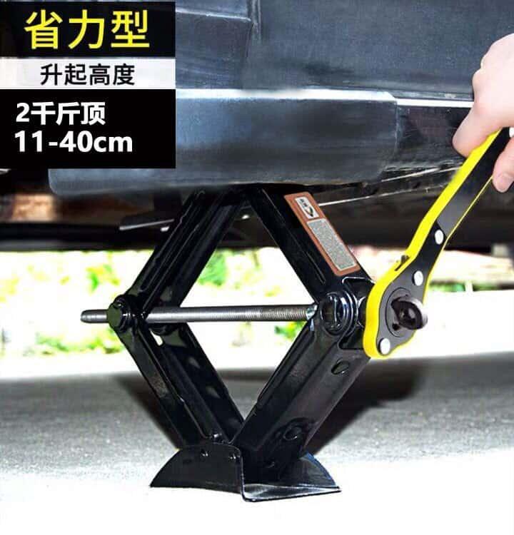 2 Ton Foldable Car Jack Hand-operated Horizontal Type 2 Tons Car Jack Car Tire Repair Tool