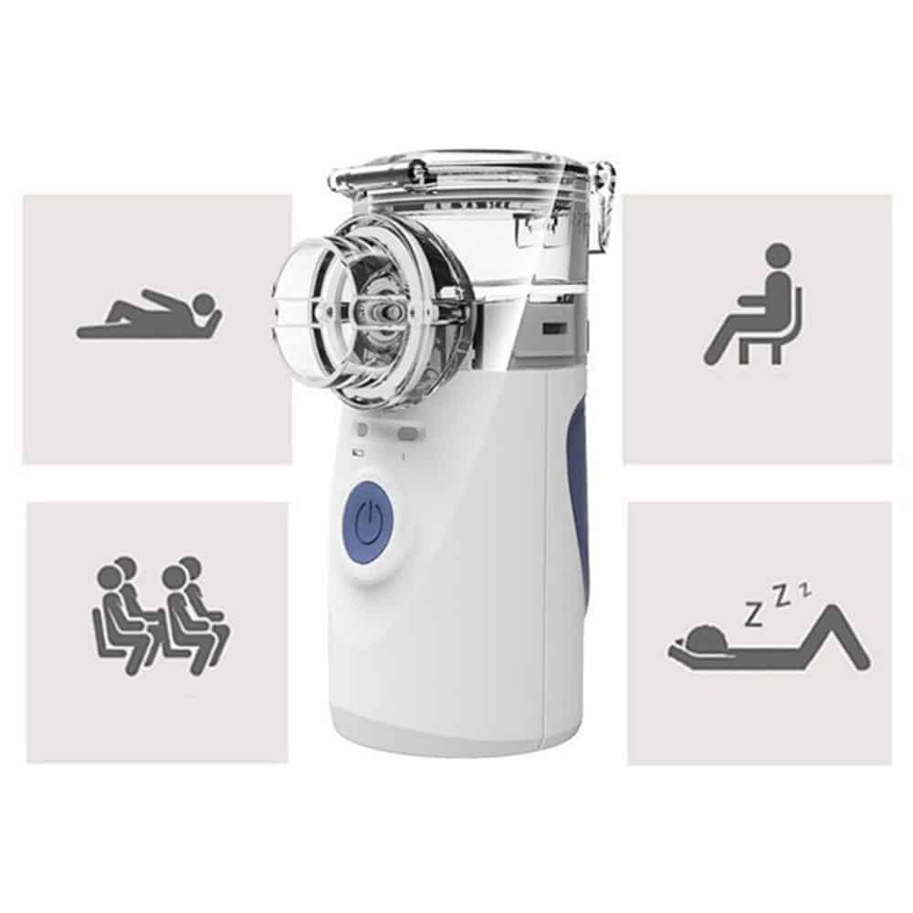 Portable Ultrasonic Nebulizer Mini Handheld Inhaler Respirator Humidifier Kit Health Care Children Home Inhaler Machine Atomizer