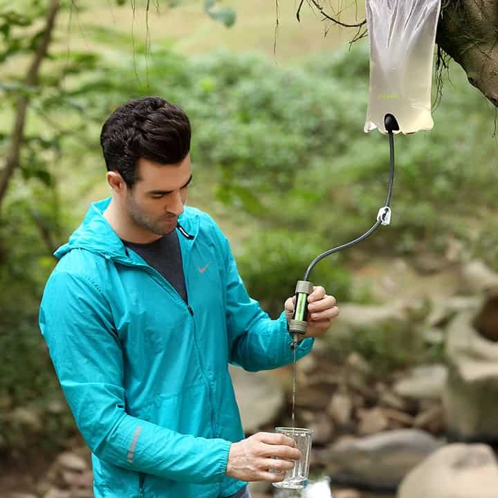 miniwell outdoor water filter survival kit for fishing,camping