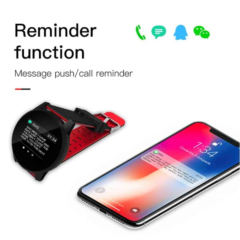 IMIDO 1.3inch Smart Bracelet Heart Rate Watch Man Wristband Sports Watches Band Waterproof For Ios Android Phone Alarm Clock