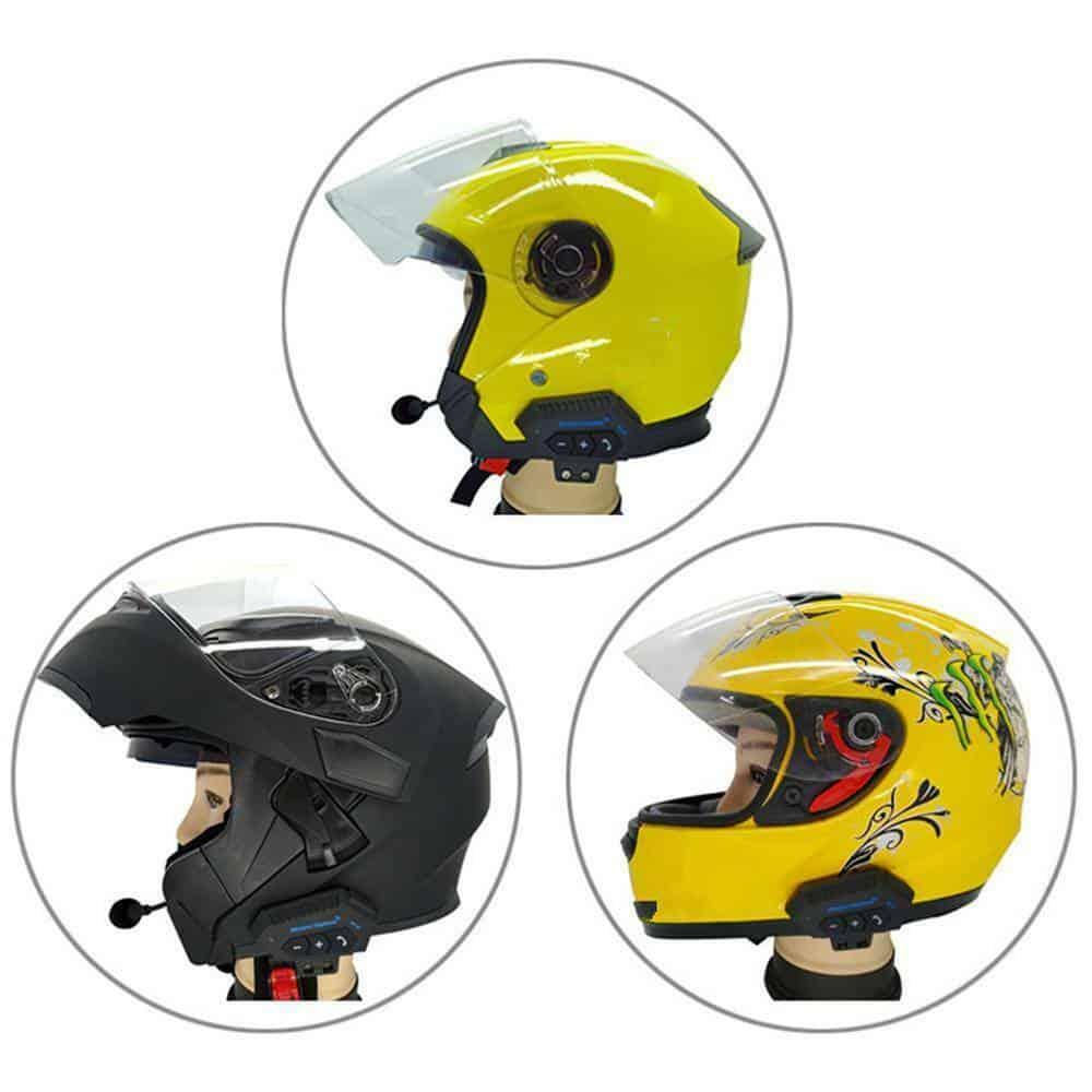 BT-12 Anti-interference Bluetooth Motorcycle Helmet Headset, Wireless Headphone Speaker,Hands-Free Intercom Motorbike Headphone