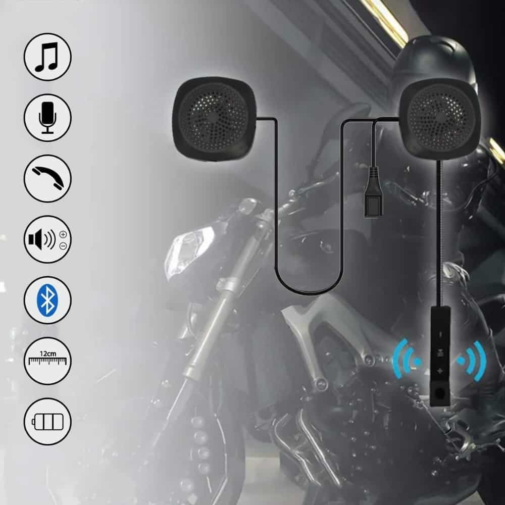VR robot Moto Bluetooth Helmet Headset Wireless Motorcycle Handsfree Earphone with Voice Control For GPS Music Motorbike Riding