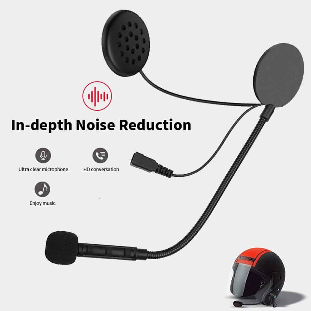 New M1 Bluetooth Anti-interference Headset For Motorcycle Helmet Riding Hands Free Headphone Motorcycle Helmet Headset