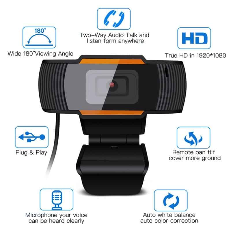 30 Degrees Rotatable 2.0 Hd Webcam 1080p Usb Camera Video Recording Web Camera With Microphone For Pc Computer Веб Камера