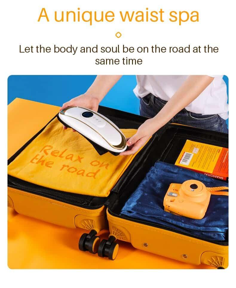 Jinkairui Lumbar Abdomen 2 in 1 Massager Waist Body Pulse Remote Control Relieve Muscle Pain Gastrointestinal Absorb Warm Gift