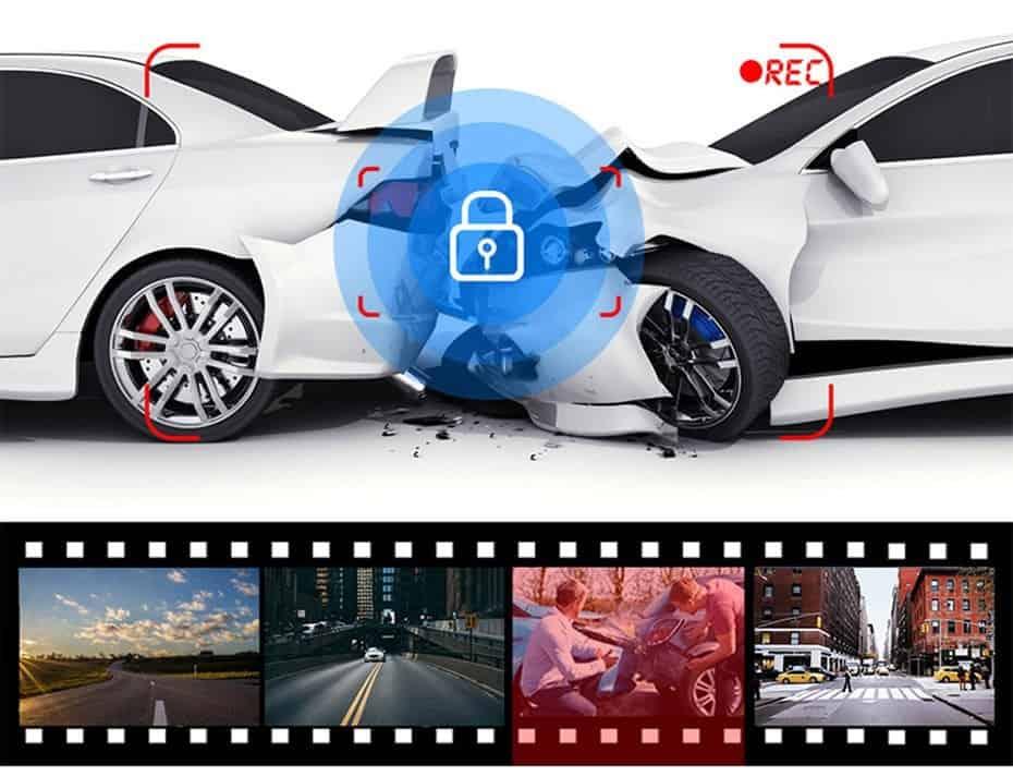 WHEXUNE New 12 inch Mirror 1440P Car DVR Stream Media Touch Screen Car Camera dash cam rear view camera Parking Monitor recorder