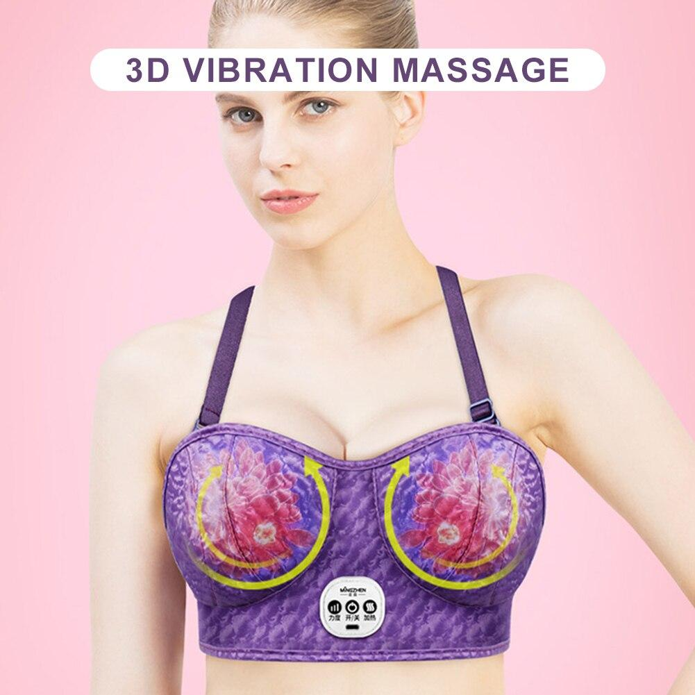3 Levels Electric Chest Massager Bra Wire-Free Rechargeabl Wireless e Breast Enhancer Bra Indoor Sports Accessories USB