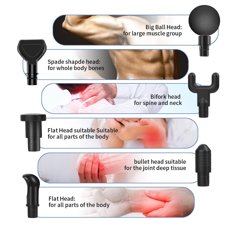 30 Speed Massage Gun Professional Electric Fascia Gun Deep Muscle Relax Body Massager guns For Fitness Pain relief With Handbags