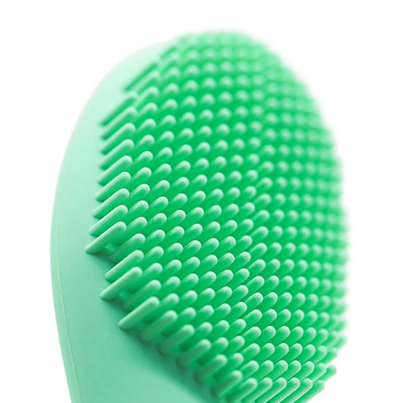 2in1 Silicone Facial Cleanser Wash Brush+Mask brush Soft Fiber Face Cleaning Portable Size Face Massage Washing Skin Brush