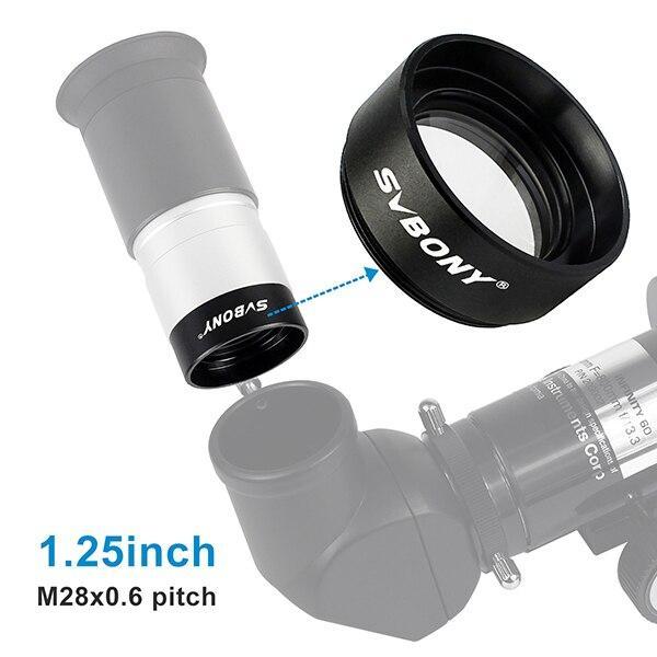 SvBony 1.25inch Focal Reducer 0.5X Astronomical Telescope Thread M28x0.6 for Astronomy Monocular Telescope Eyepiece F9115A