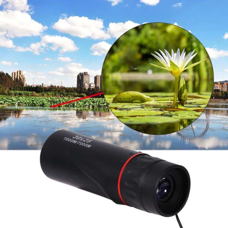 30x25 HD Optical Monocular Low Night Vision Waterproof Mini Portable Focus Telescope Zoom 10X Scope for Travel Camping Hunting