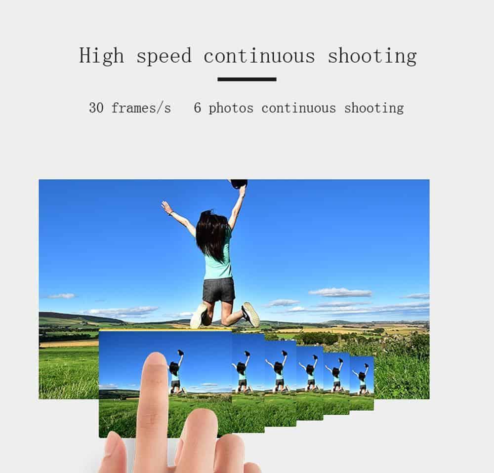 KOMERY Digital Camera 4K Camera 3.0 Inch LCD Flip Screen Video Camera 16X Digital Zoom HD Output Support WiFi Selfie Cam